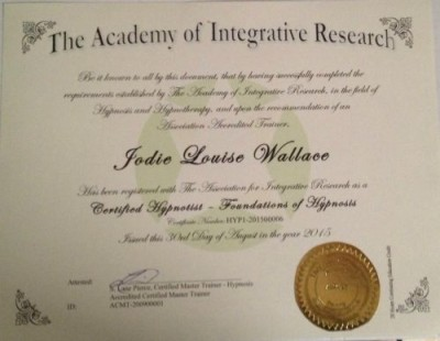 Jodie Wallace NLP Certification